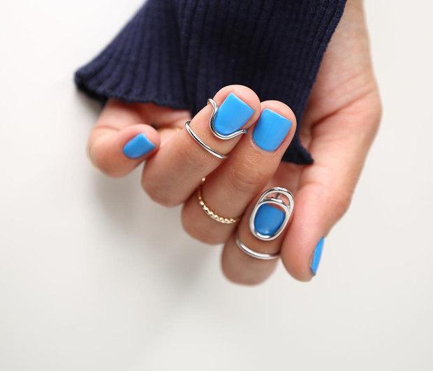 μπλε νύχια χωρίς μήκος - Oh My Beauty