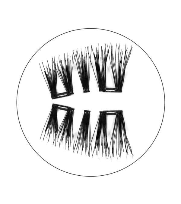 Μαγνητικές βλεφαρίδες magnetic false eyelashes justine