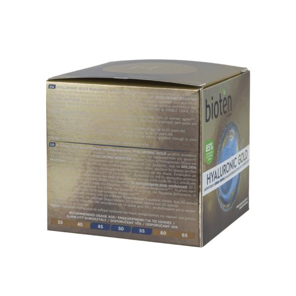 Bioten hyaluronic gold αντιρυτιδική κρέμα ημέρας