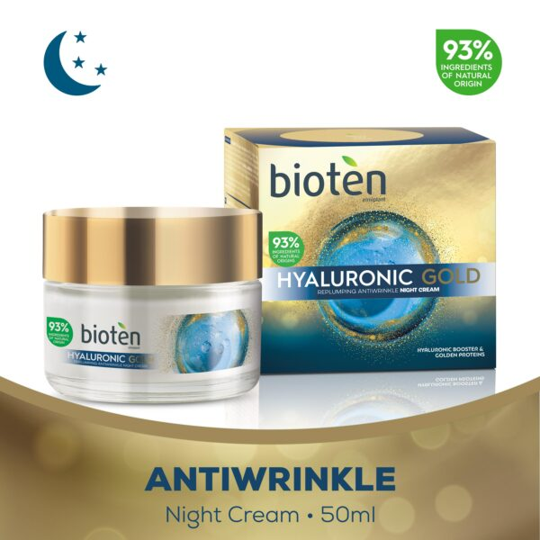 Bioten hyaluronic gold αντιρυτιδική κρέμα νυχτός 50ml