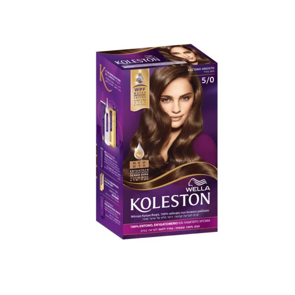 koleston kit wella krema vafhs 5/0 kastano anoixto