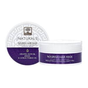 Bioselect naturals μάσκα μαλλιών glowing velvet 200ml