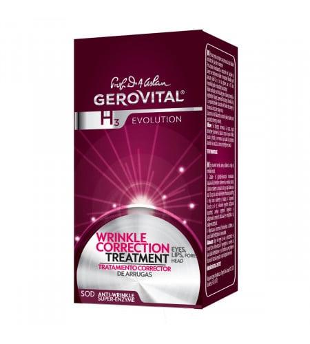 Gerovital αντιρυτιδική κρέμα για μάτια-χείλη-μέτωπο 15ml