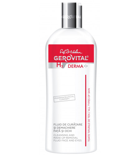 Gerovital γαλάκτωμα καθαρισμού και ντεμακιγιάζ για πρόσωπο και μάτια 200ml